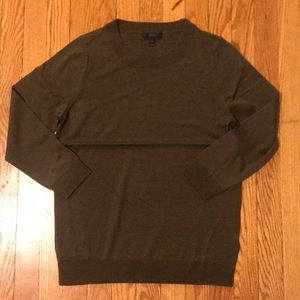 J Crew mossy brown tippi sweater